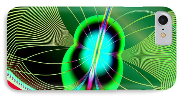 Neon Green And Blue Firefly Fractal 69  Phone Case by Rose Santuci-Sofranko