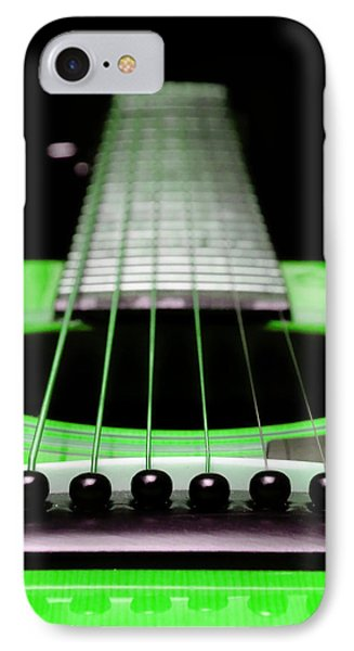 Neon Green Guitar 18 Phone Case by Andee Design