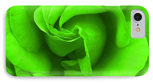 Neon Green Rose IPhone Case by Robyn Stacey