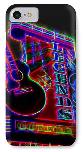Neon Legends Corner Nashville IPhone Case