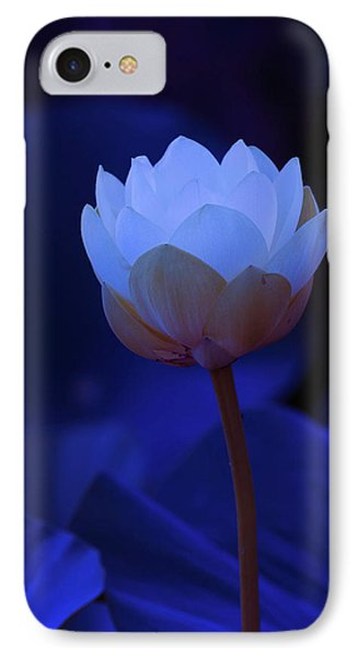 Neon Lotus IPhone Case by Carolyn Dalessandro