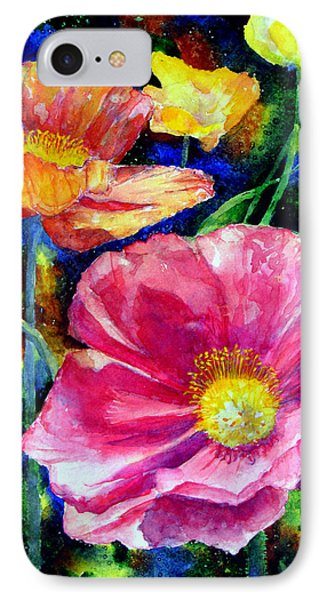 Neon Poppies Phone Case by Mary Giacomini