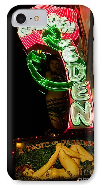 IPhone Case featuring the photograph Neon Sign At Night In North Beach San Francisco 1 by Jason Rosette
