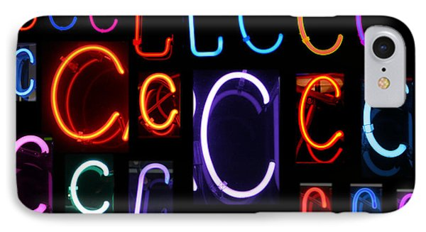 Neon Sign Series Featuring The Letter C Phone Case by Michael Ledray