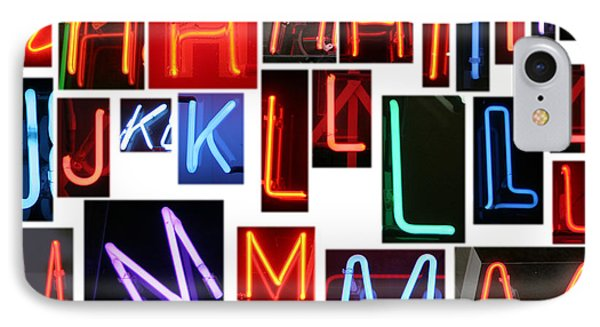 neon sign series G through N Phone Case by Michael Ledray