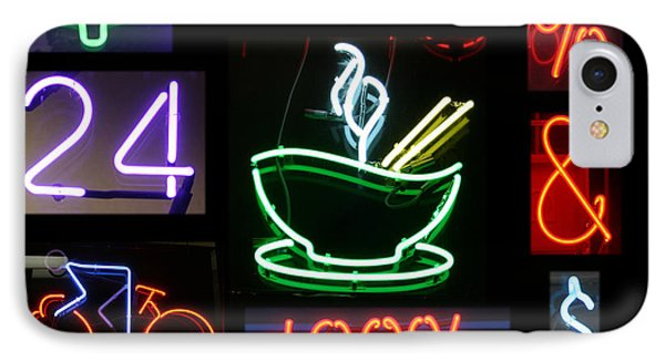Neon Sign Series Of Various Symbols Phone Case by Michael Ledray