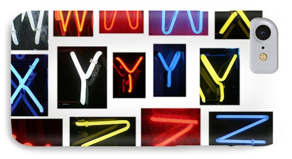 Neon Sign Series W Through Z Phone Case by Michael Ledray