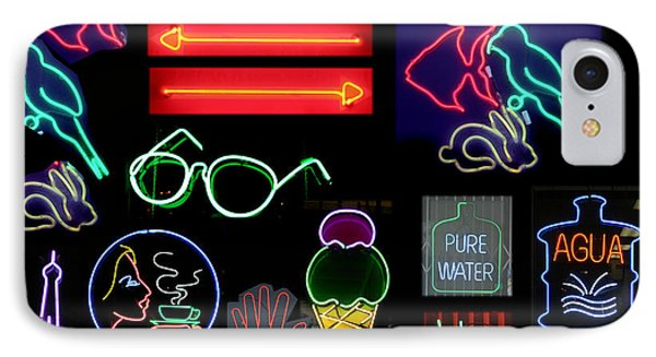 Neon Sign Series With Symbols Of Various Shapes And Colors Phone Case by Michael Ledray