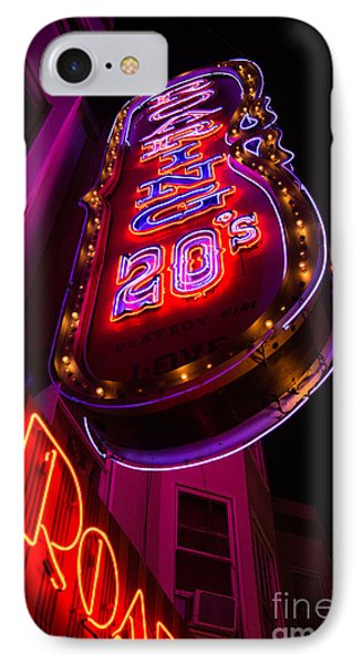 IPhone Case featuring the photograph Neon Signs At Night In North Beach Low Angle Ve by Jason Rosette