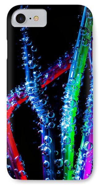 Neon Sparkling Straws Phone Case by Marc Garrido