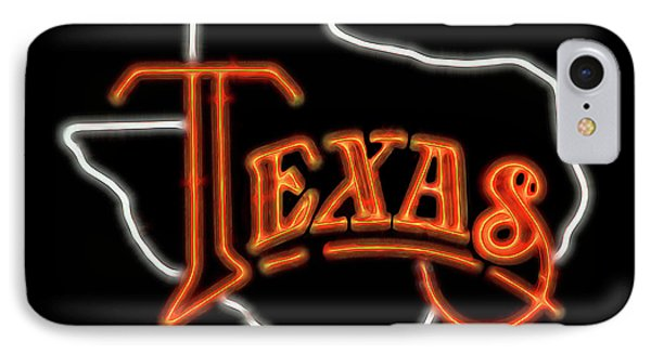 IPhone Case featuring the digital art Neon Texas by Daniel Hagerman