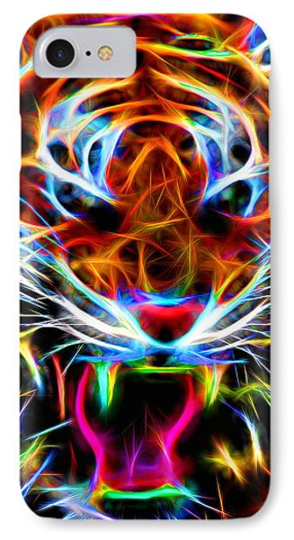 Neon Tiger IPhone Case by Andreas Thust