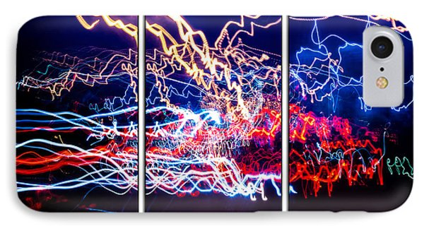 Neon Ufa Triptych Number 1 IPhone Case by John Williams