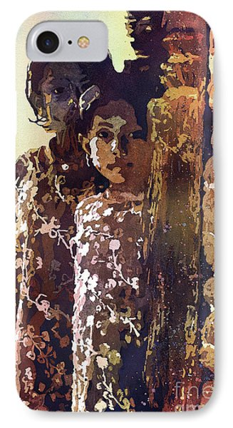 IPhone Case featuring the painting Nepalese Girls by Ryan Fox