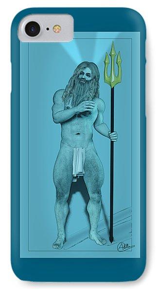 Blue Neptune IPhone Case by Quim Abella