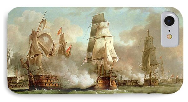 Neptune Engaging Trafalgar IPhone Case by J Francis Sartorius