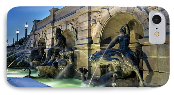 IPhone Case featuring the photograph Neptune Fountain by Greg Mimbs