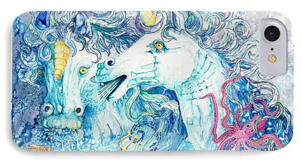 Neptune's Horses IPhone Case by Melinda Dare Benfield