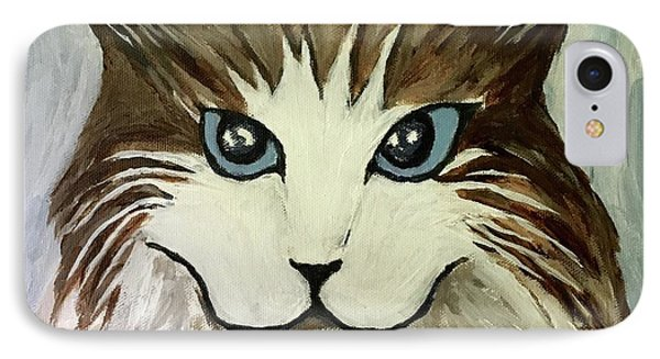 IPhone Case featuring the painting Nerd Cat by Victoria Lakes