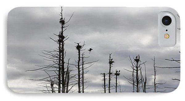 Nesting Blue Herons Phone Case by Erin Paul Donovan