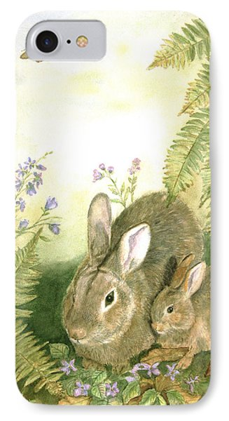 Nesting Bunnies Phone Case by Patricia Pushaw