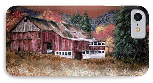 IPhone Case featuring the digital art Nestled In The Laurel Highlands by Lois Bryan