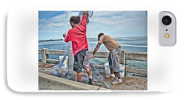 Net Fishing On Cortez Bridge  IPhone Case by Glenn Gemmell