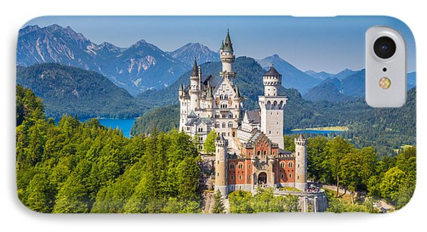 Neuschwanstein Fairytale Castle IPhone Case by JR Photography