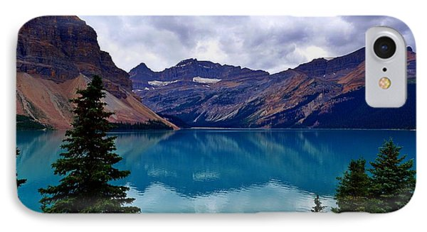 Bow Lake, Banff, Ab  IPhone Case by Heather Vopni