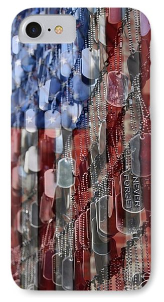IPhone Case featuring the photograph Never Forget American Sacrifice by DJ Florek