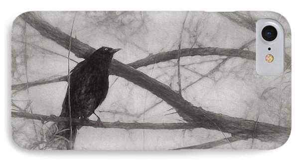Nevermore IPhone 7 Case by Melinda Wolverson