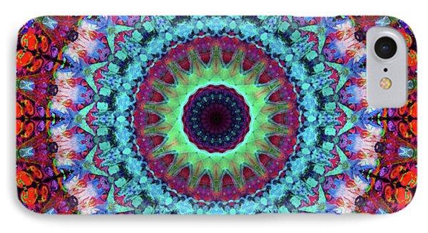 New Dawn Mandala Art - Sharon Cummings IPhone Case by Sharon Cummings