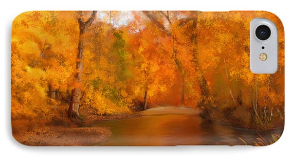 New England Autumn In The Woods IPhone Case by Becky Herrera