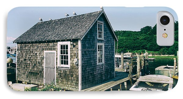 New England Fishing Cabin IPhone Case by Mark Miller
