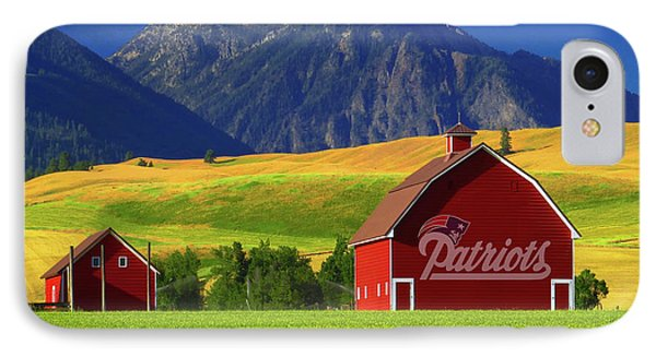 IPhone Case featuring the photograph New England Patriots Barn by Movie Poster Prints