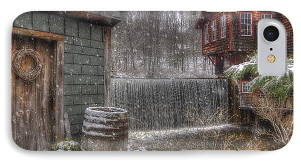 New England Snow Scenes - Frye's Measure Mill - Wilton, Nh IPhone Case by Joann Vitali