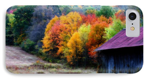 IPhone Case featuring the photograph New England Tobacco Barn In Autumn by Smilin Eyes  Treasures