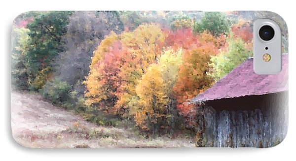 New England Tobacco Barn In Watercolor IPhone Case by Smilin Eyes  Treasures