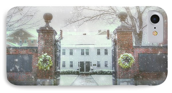 New England Winter Scene - Peterborough Nh IPhone Case by Joann Vitali