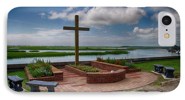 IPhone Case featuring the photograph New Garden Cross At Belin Umc by Bill Barber