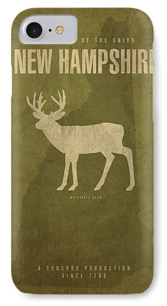 New Hampshire State Facts Minimalist Movie Poster Art IPhone Case by Design Turnpike