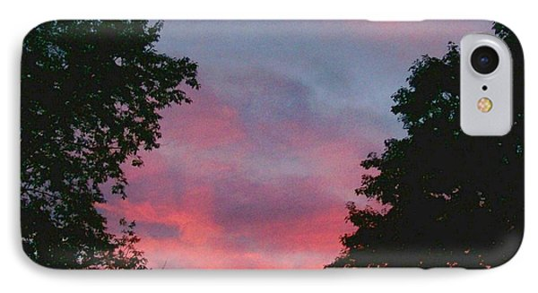 IPhone Case featuring the digital art New Hampshire Sunset by Barbara S Nickerson