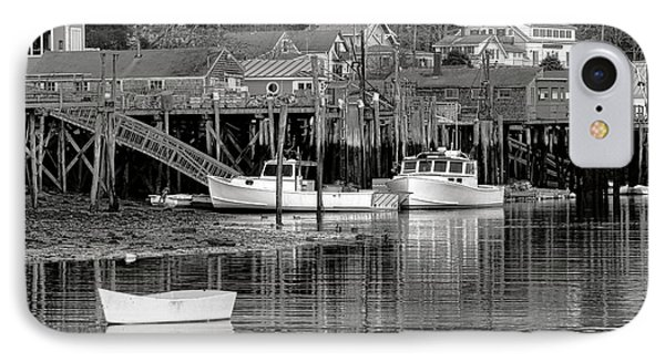 IPhone Case featuring the photograph New Harbor Docks by Olivier Le Queinec