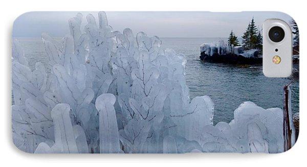 New Ice On Lake Superior IPhone Case by Sandra Updyke