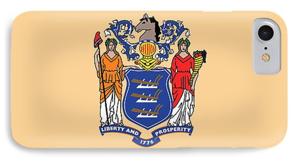 New Jersey State Flag IPhone Case by American School