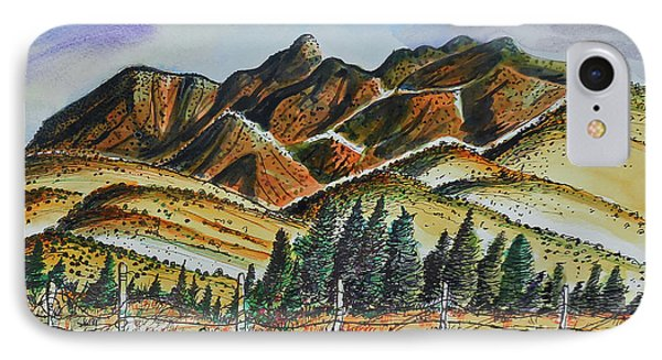 IPhone Case featuring the painting New Mexico Back Country by Terry Banderas