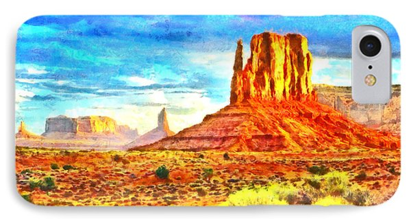 New Mexico Beautiful Desert - Pa IPhone Case by Leonardo Digenio