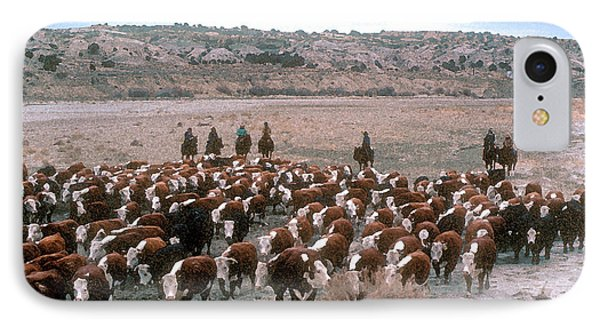 New Mexico Cattle Drive Phone Case by Jerry McElroy