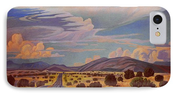 IPhone Case featuring the painting New Mexico Cloud Patterns by Art James West