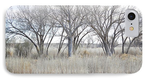 IPhone Case featuring the photograph New Mexico Desert Tree Field by Andrea Hazel Ihlefeld
